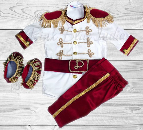 Red Boy Prince Charming Costume, King Outfit, Prince Clothes