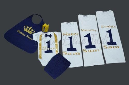 King Queen and Prince Princess Royal Family Matching T-shirts