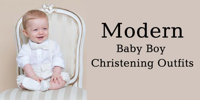 Modern baby boy christening outfit, Infant Boy Baptism Dress