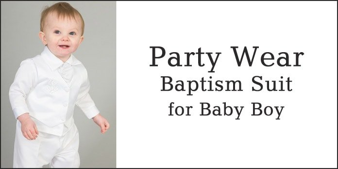 Baby Boy White Baptism Suit, Toddler Party Wear Baptism Outfit