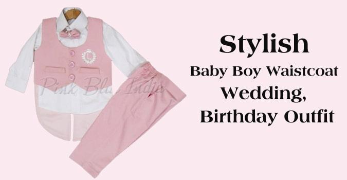 Baby Boy Waistcoat Wedding, Birthday Outfit India