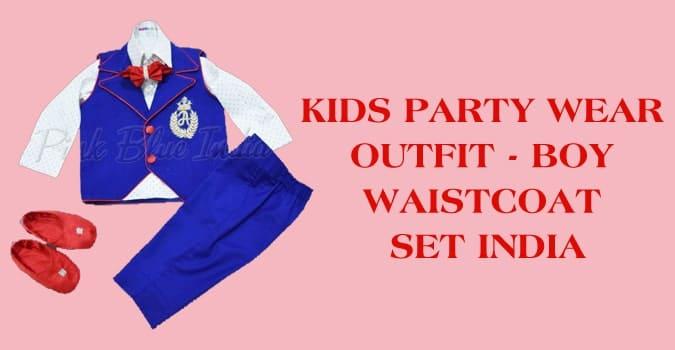 Kids Party Wear Waistcoat Outfit, Boy Waistcoat Set India