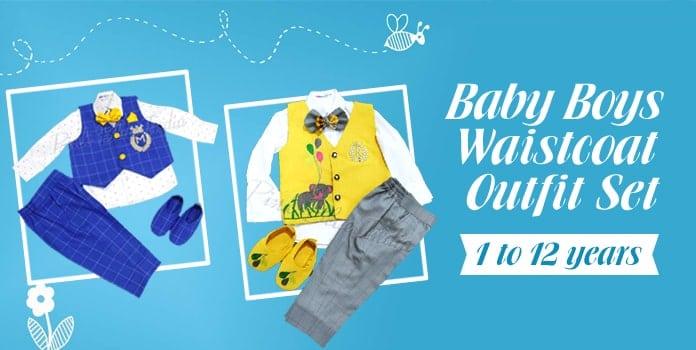 Kids Waistcoat, Baby Boy Waistcoat Outfits Online