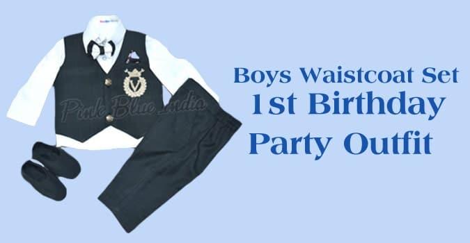 Boys Waistcoat Set, 1st Birthday Party Waistcoat Outfit