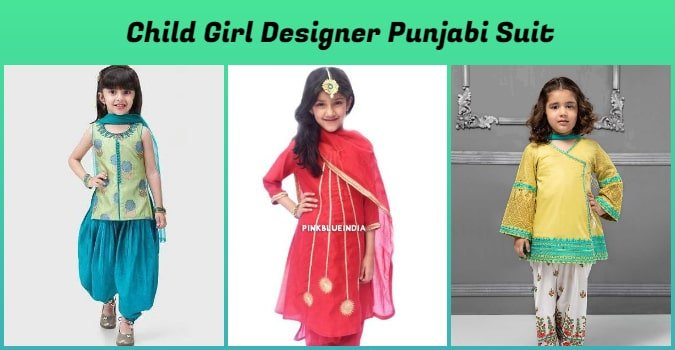 Child Girl Designer Punjabi Suit, Punjabi salwar Suit for baby girl online