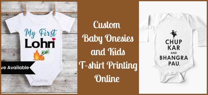 Custom Baby Onesies, Kids T-shirt Printing in Amritsar