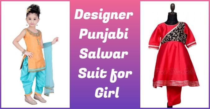 Designer Punjabi Salwar Suit for Girls, Kids Salwar Kameez Amritsar