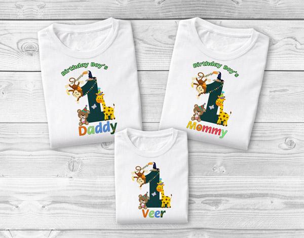 Jungle Safari Family T-Shirts, Family Safari Birthday Shirts