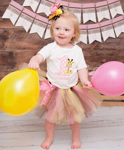 Jungle Safari Tutu Outfit, Wild one Safari Birthday Baby Girl Tutu Outfit