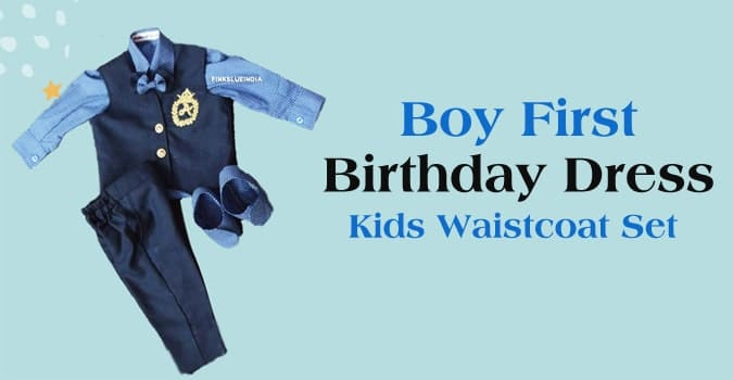 Boy First Birthday Dress, Kids Waistcoat Set, First Birthday Waistcoat