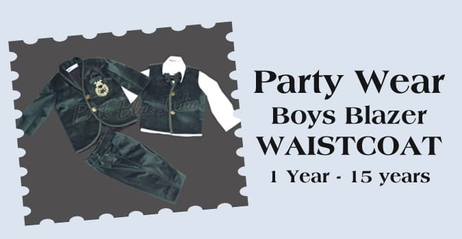 Party Wear Boy Blazer, Kids Waistcoat Set India