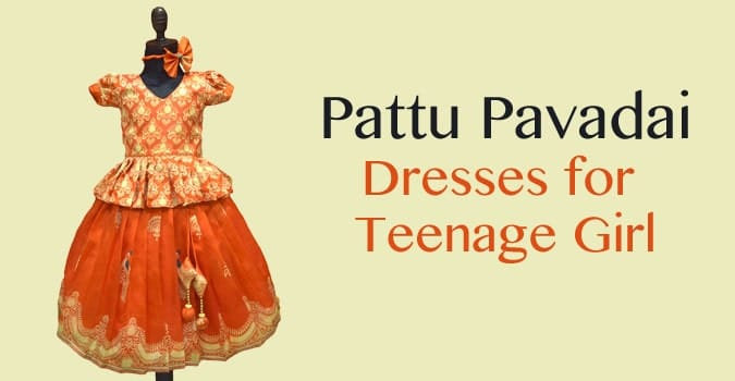 Teenage Girl Pattu Pavadai Lehenga, South Indian Gowns Dress
