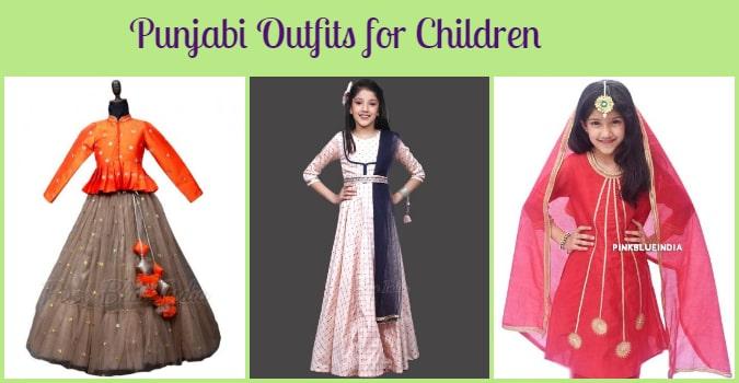 Girls Punjabi Dress, Children Punjabi Outfits India