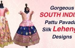 Gorgeous South Indian Pattu Pavadai Silk Lehenga Designs