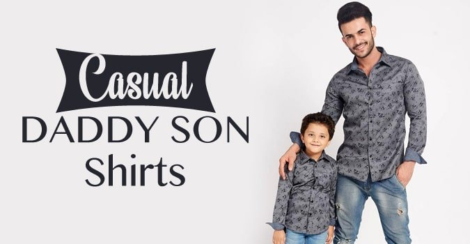 Casual Daddy Baby Boy Shirts, Dad and Son shirts