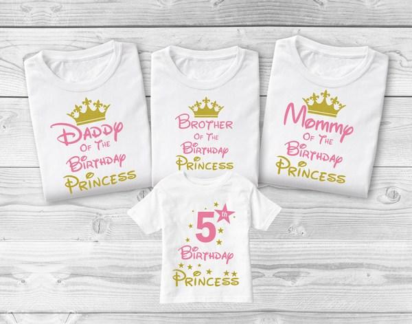 Disney Shirts, Disney Princess Family Birthday T-shirts India