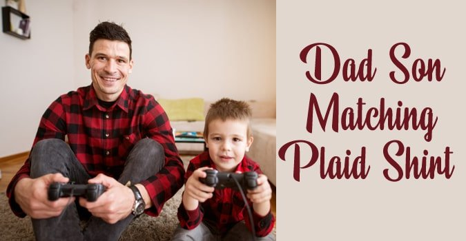 Dad Son Matching Plaid Shirts Online India