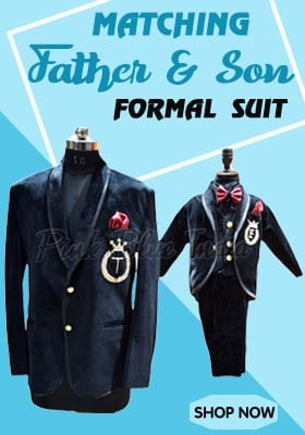 Father Son formal party suit, dad son baby outfit