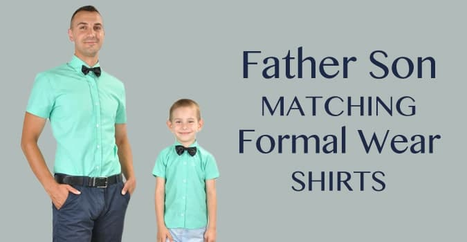 Father and Son Matching Formal Wear Shirts