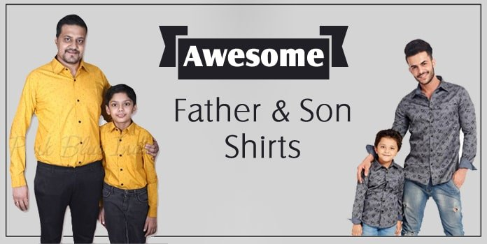 Father and Son Shirts, Dad Son Matching dress Shirts