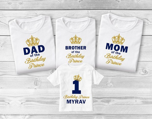 Family Tshirts, King Queen Prince Family Tees,  Mom Dad and Baby T-shirt