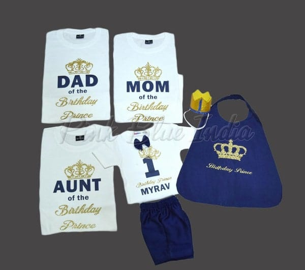 King Queen Prince Princess T-shirt, Royal Prince Family T-shirt Outfit