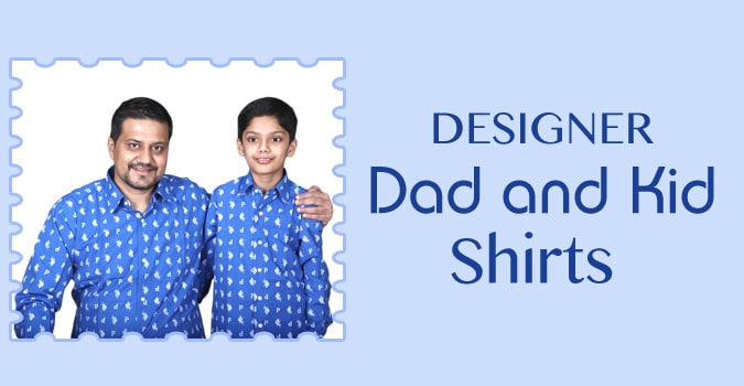 Designer Party Wear Dad and Kid Shirts