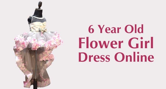 6 Year Old Flower Girl Dress Online