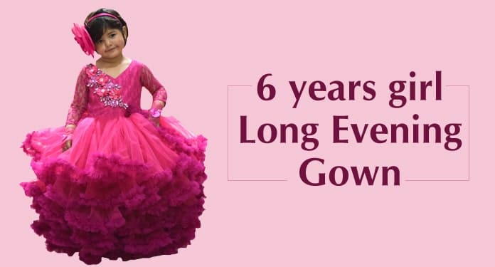 6 years girl Long Evening Gown, Party Dress