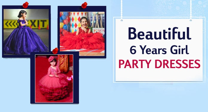 6 Years Girl Party Dresses, 6th Birthday Party Gown, Frocks