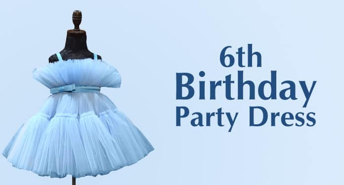 6th Birthday Party Dress, 6 year Kids Party Frock
