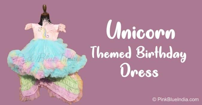 Unicorn Dress, Rainbow Dress, Unicorn Themed Birthday Dress