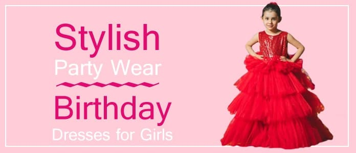 Girls Party Wear, Designer Kids Birthday Dresses, Wedding Gowns