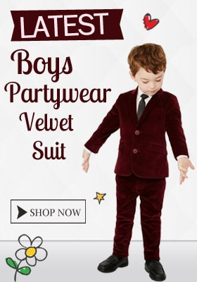 Party wear Velvet Suit For Boys