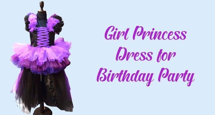 6 years Girl Birthday Party Princess Dress