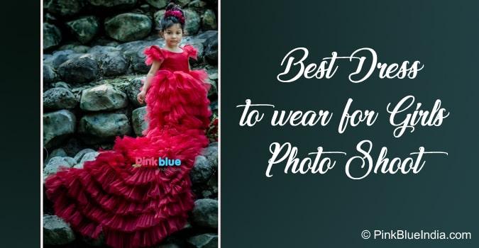 Kid Girls Photo Shoot Dress, Long Train Dress