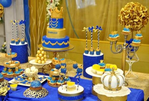 Royal Prince theme dessert table, Little Prince dessert table