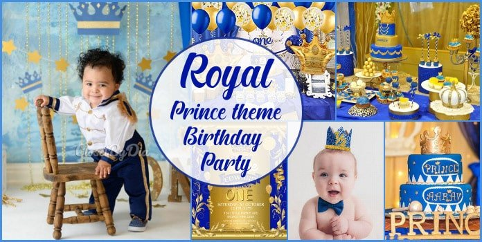 Royal Prince Theme Birthday Party, Little Prince Party Decorations Ideas