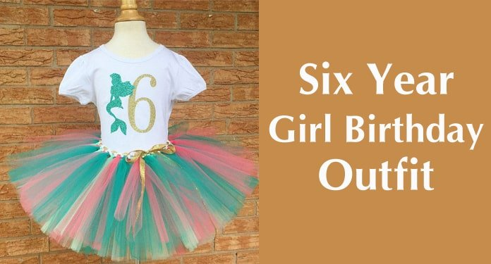 Girl Sixth Birthday Outfit, Six Year Old Birthday Outfit