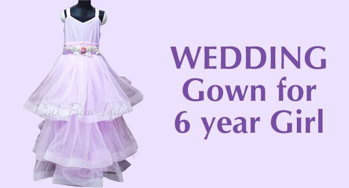 6 year old Girl Wedding Gown, Baby Girl Western Gown