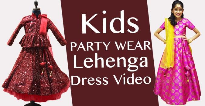 Kids Lehenga Choli Video, Girls Party Wear Lehenga Dress on YouTube