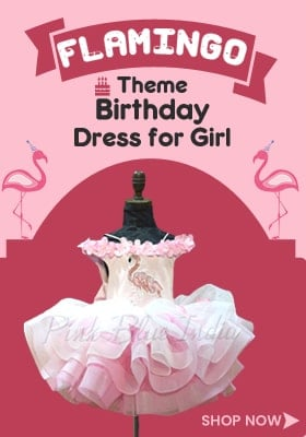Flamingo Theme Birthday Party Dress for Baby Girl