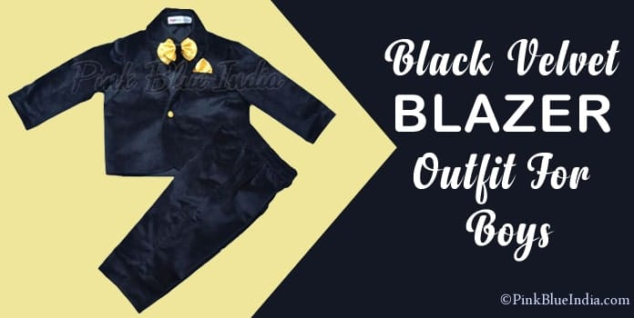 Little Boy Suit Jacket, Black Velvet Blazer Outfit