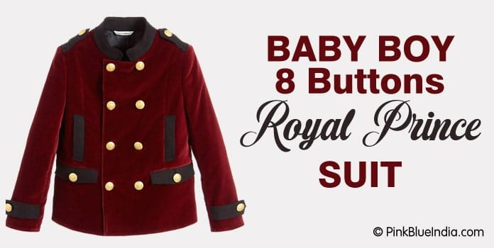 Baby Boy 8 Buttons Royal Prince Suit