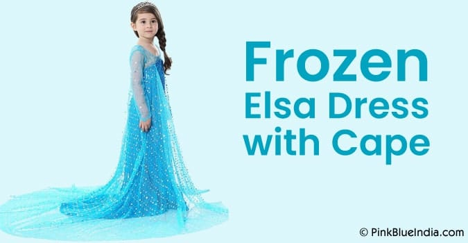 Frozen Elsa Dress with Cape, Girls Elsa Princess Cape