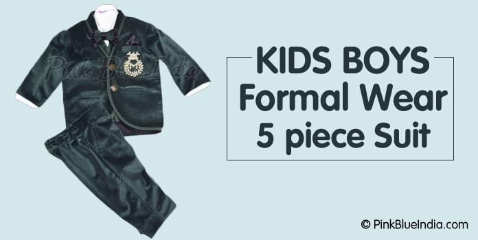 Children Kids Boys Formal 5 piece Suit