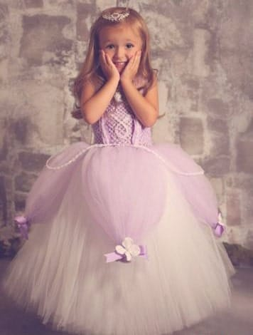 Little Girl Princess Sofia Costume Dress up