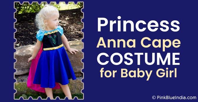 Princess Anna Cape Costume, Baby Girl anna costume dress