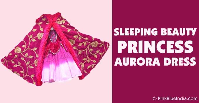 Sleeping Beauty Princess Aurora Cape Dress Costume