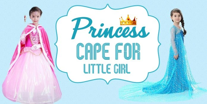 Princess Cape for Little Girl, Toddler Cape Princess Costume Dress